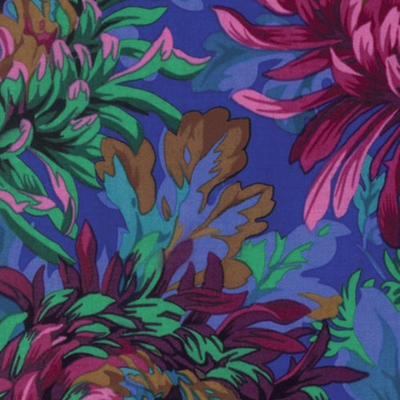 SHAGGY COBALT Blue PJ072 by Philip Jacobs for Kaffe Fassett Collective Sold in 1/2 yd increments
