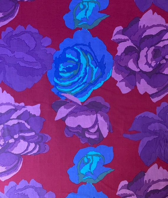 1 yd ROSE CLOUDS MAROON  Kaffe Fassett  Sold in 1 yd units - Multiples cut one length