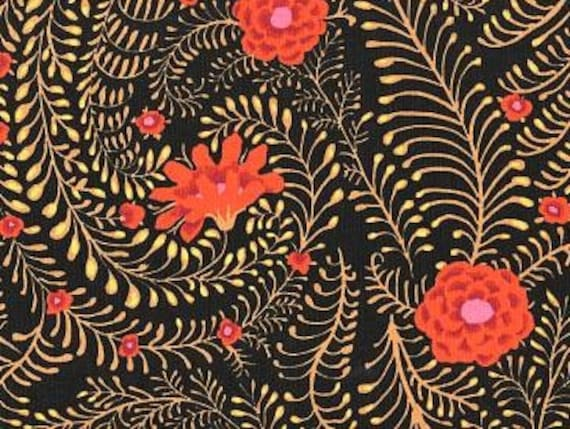 FERNS BLACK GP147 by  Kaffe Fassett Collective