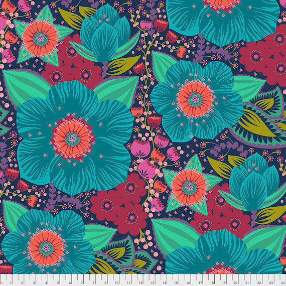 "Pre-Order Separate Order 108"" BACKING Honorable Mention Turquoise 2 1/2 yds WHEELHOUSE Quilt Anna Maria Horner Hindsight collection Apr 2020"