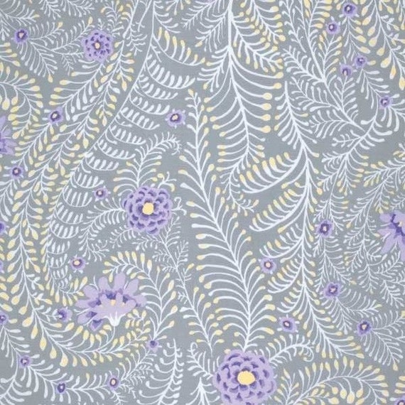 FERNS GRAY Grey  PWGP147  Kaffe Fassett Sold in 1/2 yd units, Multiples cut as one piece  - USA based retailer