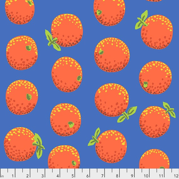 ORANGES ORANGE PWGP177  Kaffe Fassett -  1/2 yd - Multiples cut one length  - USA based retailer