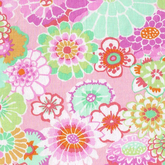ASIAN CIRCLES  Pink GP89 Kaffe Fassett  Sold in 1/2 yd increments