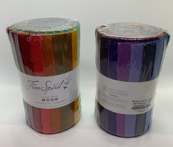 """SHOT COTTON 6"""" Design Roll  - 20 Colors  by  Kaffe Fassett   New 2020 Colors"""