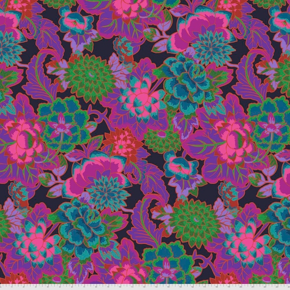 CLOISONNE PURPLE Kaffe Fassett -  - Sold in 1/2 yd increments  - Multiples cut continuous
