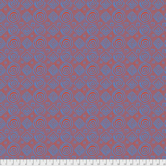 GOOD VIBRATIONS Orange Brandon Mably  Kaffe Fassett   1/2 yd - Multiples cut continuously - Multiples cut as one length