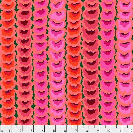 FEBRUARY 2021 Read Description! Pre-Order GARLANDS RED PWGP181 - Kaffe Fassett Collective  Sold in 1/2 yd increments