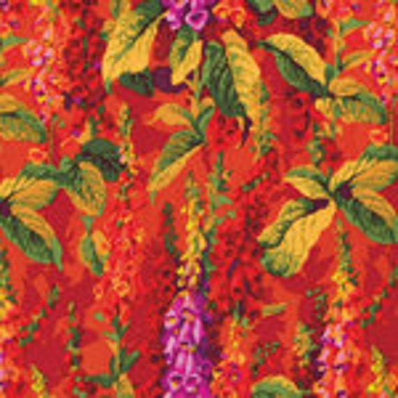 FOXGLOVES HOT Fox Gloves Philip Jacobs PWPJ010 Kaffe Fassett Collective Sold in 1/2 yd increments