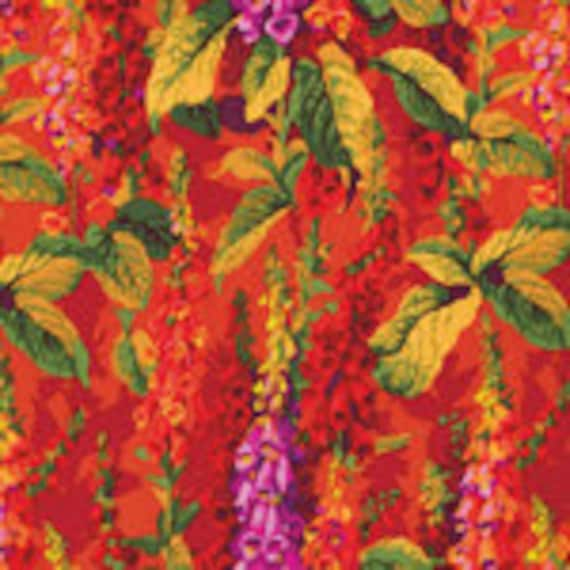 FOXGLOVES HOT Fox Gloves Philip Jacobs PWPJ010 Kaffe Fassett Collective  1/2 yd - Multiples cut continuously