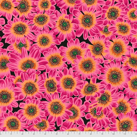 Pre-Order on Separate Order! LUCY MAGENTA Philip Jacobs Kaffe Fassett Collective -Sold in 1/2yd units - Multiples cut continuous