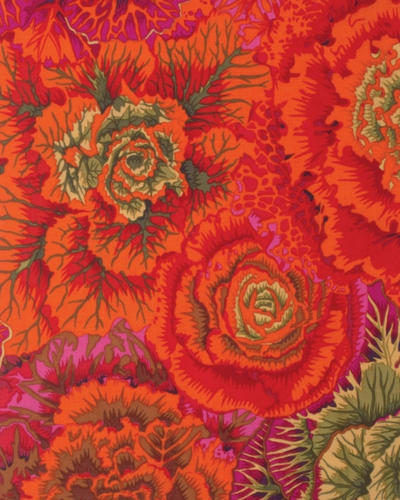 BRASSICA RUST Fall 2015 Philip Jacobs for Kaffe Fassett Collective  1/2 yd - Multiples cut continuously