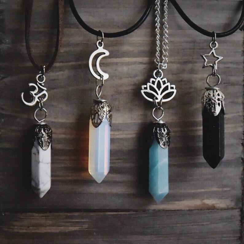 8e8e3d5098e8 Cristal gargantilla curación Charm joyería-Chakra mujer Tumblr