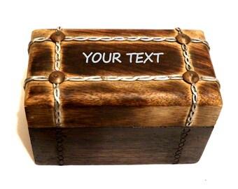 Joyero Hombres Valentín, Regalo Valentín Personalizado, Caja de Cigarros Personalizada, Caja Vintage Hombres Grabada, Joyero Regalo Hombre