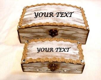 Set Personalizado, Conjunto de Boda. Regalo Caja Boda. Regalo Nupcial. Nombres Grabados, Regalo Caja de Compromiso, Set Cajas de Boda