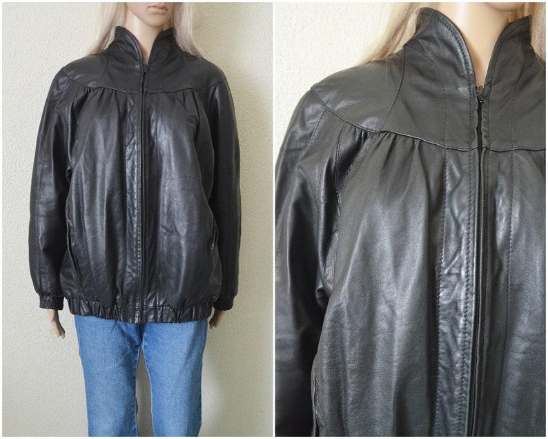 8e626cb545034 Bluza czarny drobny bombowiec kobieta marynarka kurtka | Etsy