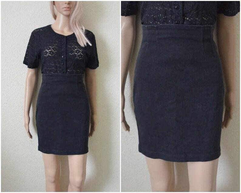 e5aa47b640 Grey Denim Skirt mini Faded black pencil skirt pin up high | Etsy