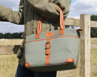 Sedgebrook Canvas and Leather Handbag by BURGHLEY BAGS