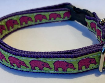 "Tiny Elephants Collar (1/2"" wide)"