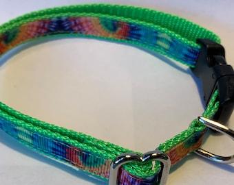 "Tiny Tie Dye Collar (1/2"" wide)"