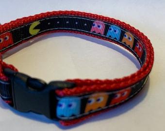 "Tiny Retro Video Game Collar (1/2"" wide)"