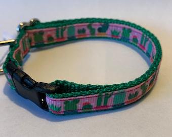 "Tiny Cacti Collar (1/2"" wide)"