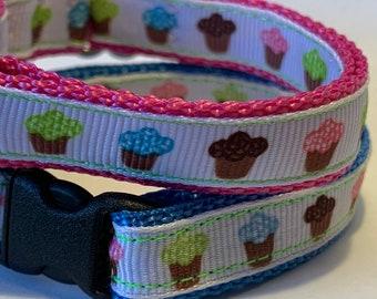 """Tiny Cupcakes Collar (1/2"""" wide)"""