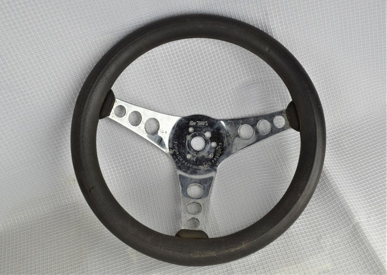 Vintage 70s Hot Rod Steering Wheel The 500 Superior image 0
