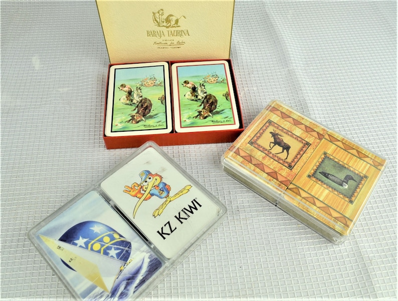 Vintage Playing Cards Choice of Double Deck Sets  Nautical image 0