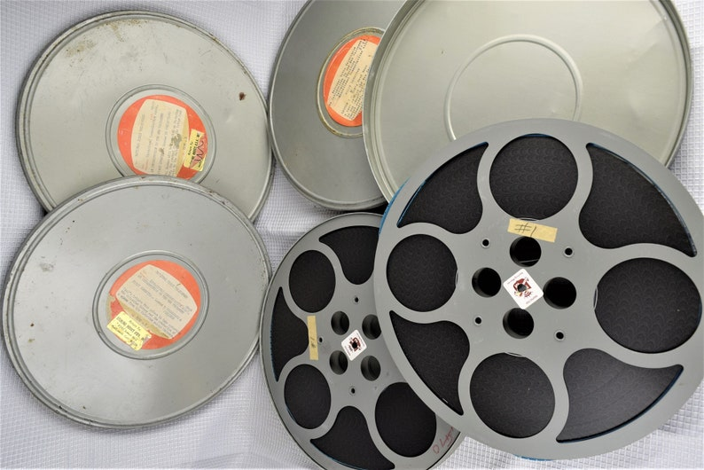 Large Vintage 16 MM Film Reels and Tin Canisters image 0