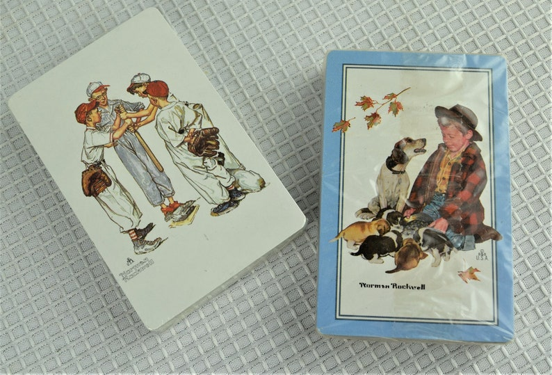 Vintage Playing Cards Norman Rockwell Deck of Cards New in image 0