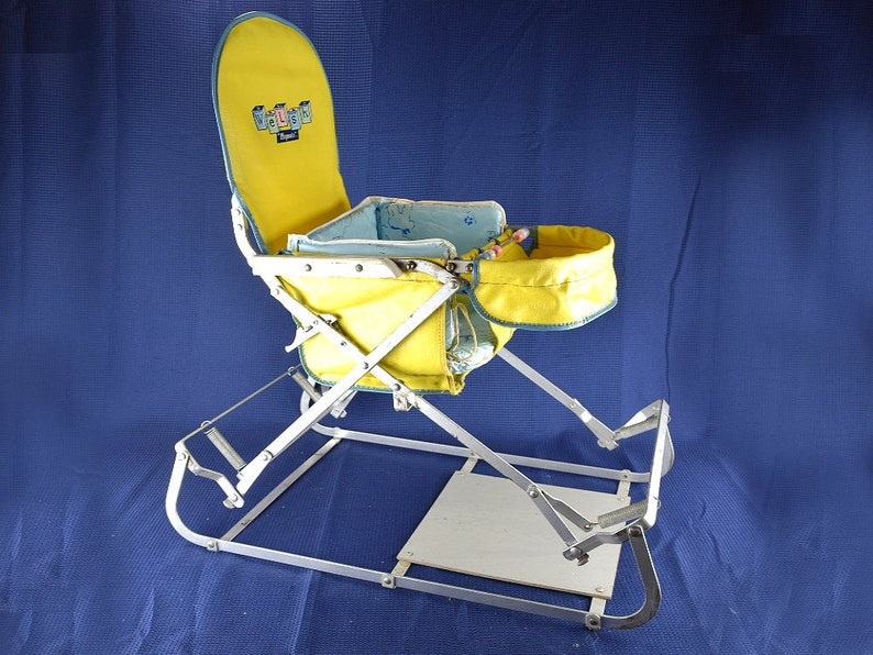 dfb9414a5 Vintage Baby Bouncer Chair Metal Frame Bouncing Seat for