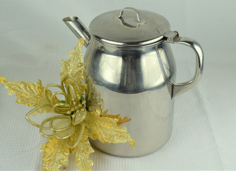 Vintage Stainless Steel Gallon Pitcher Large Vollrath image 0