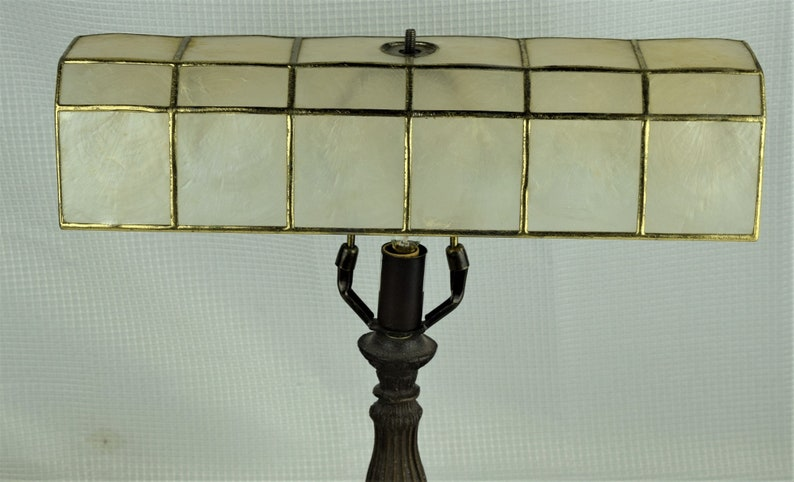 Vintage Capiz Shell Lampshade Long Narrow for Desk or Piano image 0
