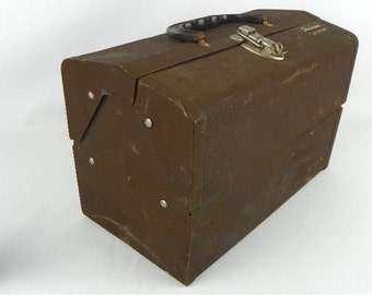 Vintage Philson Metal Tackle Box with 4 Fold Out Trays