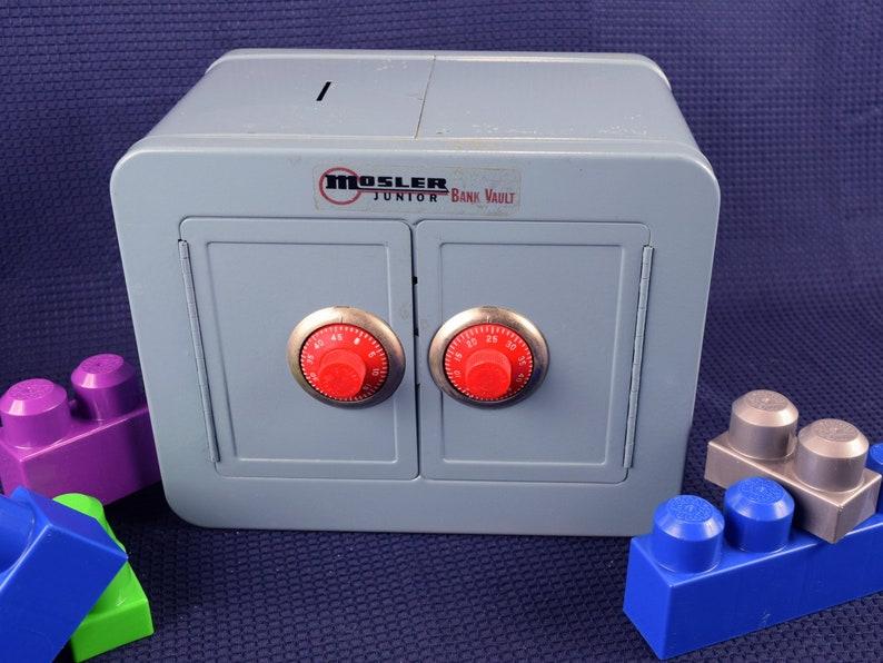 Vintage Metal Toy Bank Mosler Junior Double Door Vault with Combination  Lock Money Box