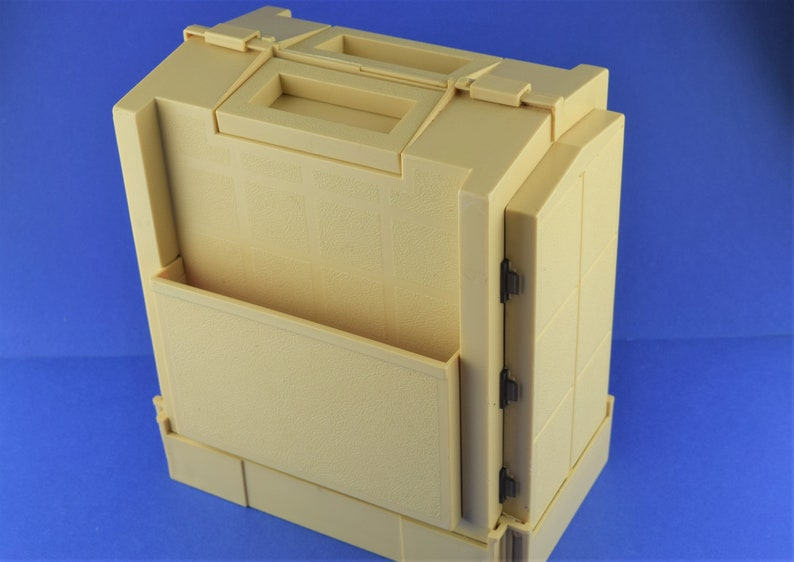 Vintage 1985 Compact Spool Caddy Folding Compartments Carrying image 0
