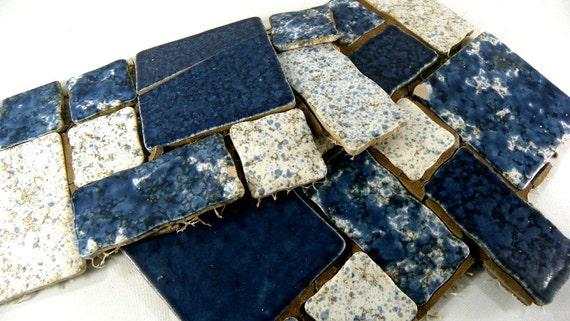 Used Mosaic Vintage Ceramic Floor Tile For Craft Projects 10 Etsy