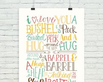 """A bushel and a peck (""""prairie colors"""" version)"""