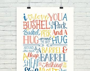 "A bushel and a peck (""nautical colors"" version)"
