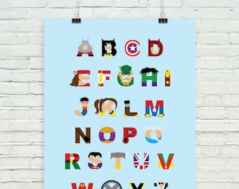 Superhero ABCs alphabet