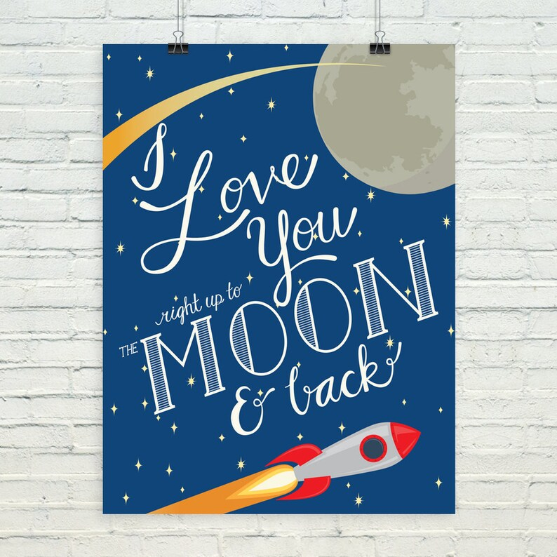 I love you right up to the moon and back image 0