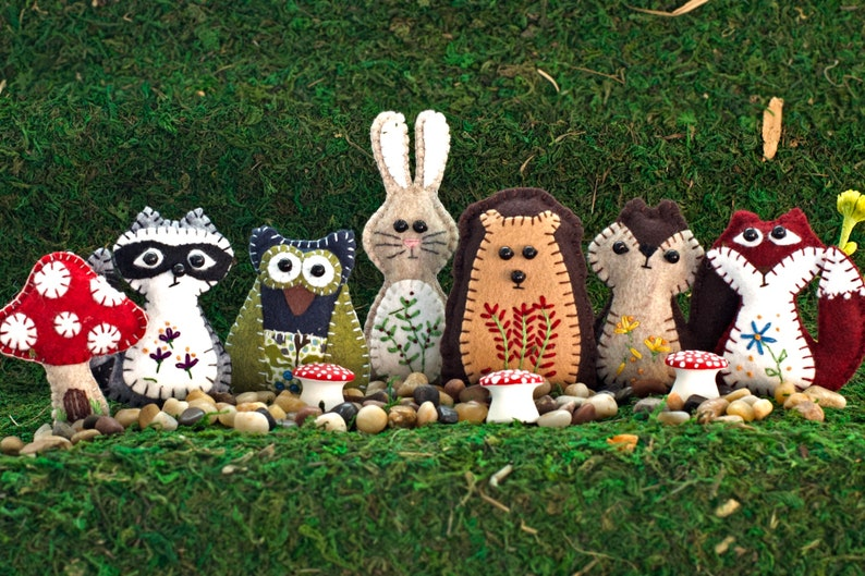 Felt Woodland Creature Patterns image 0