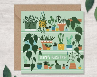 Beautiful Card for a Keen Gardener | Plant Lover Card | Gardener Birthday Card | Can post to recipient with personal message