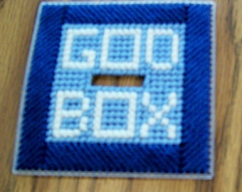 God Box, Top Pattern, Prayer Box, Handmade, Plastic Canvas, Intentions, Blessings, Hope, Concerns, Aspirations, Worries, Wishes, Secrets