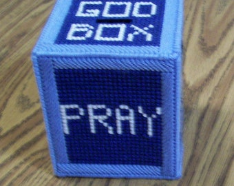 God Box, Made To Order, Prayer Box, Handmade, Plastic Canvas, Intentions, Blessings, Hope, Concerns, Aspirations, Worries, Wishes, Secrets