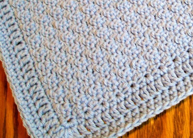 Throw Blanket Lap Blanket Swaddle Blanket Crib Blanket Handmade Crocheted Blanket Baby Bedding Baby Boy Blanket Baby Shower Gift