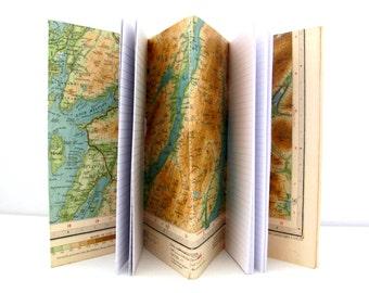 Scotland travel notebook, Traveller journal, Outdoor gift, Notebook journal, Map notepad, Scotland gift, Retirement, Memory, Honeymoon gift