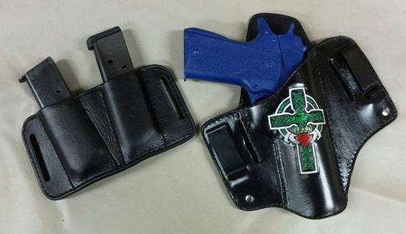 IWB / OWB holster and magazine carrier combo for 1911 pistol