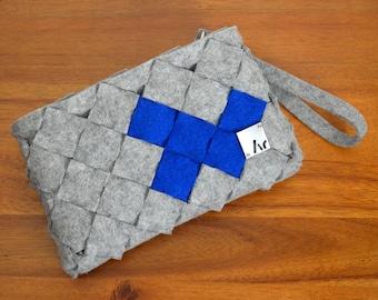 Ar Clutches, Felt Clutch, Felt Purse, Felt Handbag, Wool, Felt Pattern
