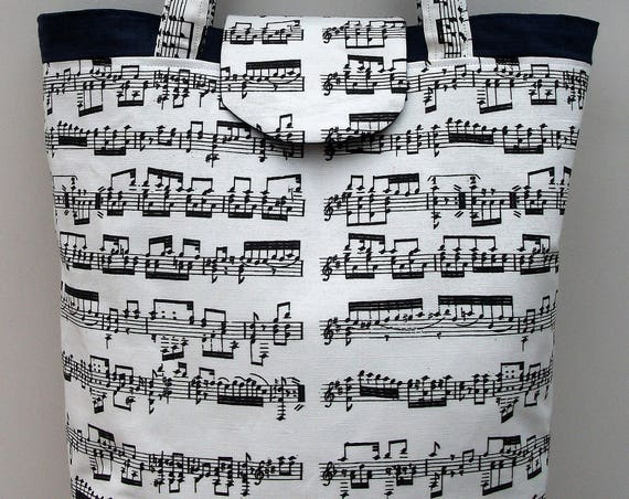 Mozart Music themed tote bag, Gift for musician, music teacher gift, large tote bag, long handled tote bag, music bag